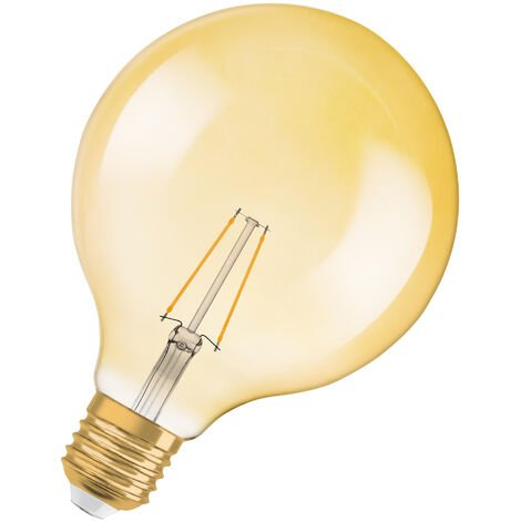 Bombilla LED Filamento Retro Globo E27 Oro 2.8W 2500K Luz Calida OSRAM