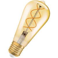 Bombilla LED Vintage E27 Oro 4.5W 2000K Luz Calida Regulable OSRAM