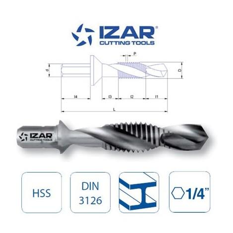 foret taraudeur HSS queue hexagonale 6 pans Izar M3 à M10   M4