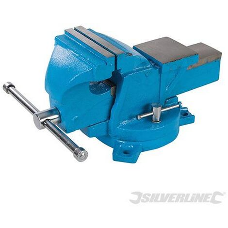 Silverline (580468) Engineers Workshop Vice Swivel Base 100mm (4'') Jaw Capacity 120mm (8kg)
