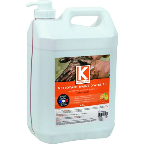 NETTOYANT MICROBILLES MAINS ATELIER KARZHAN ROUGE 4,5L Agrumes- S58148