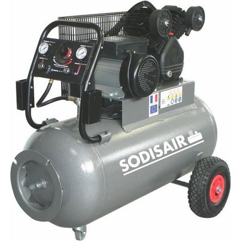Compresseur 100 Litres V fonte a courroie 400 V tri SODISAIR - S11209A