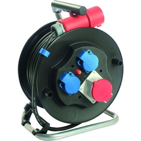 Enrouleur électrique 20 mètres câble 5G 2,5 mm² tri 400 V - S01590