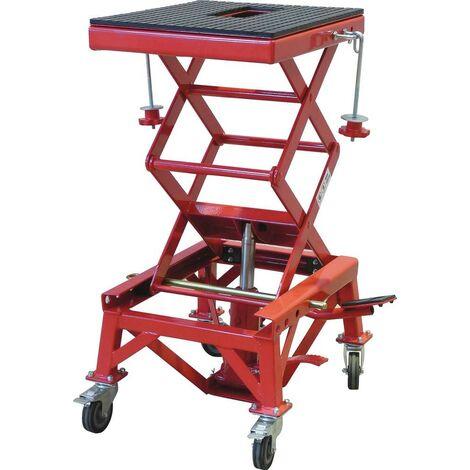 TABLE ELEVATRICE HYDRAULIQUE MOTO - CAPACITE 135 KG -S15344
