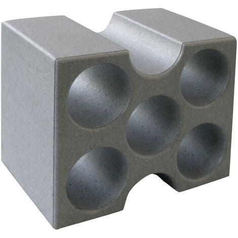 Climapor Flaschenbox Compact, grau - fuer 5 Flaschen max. Ø 9 cm - 01 Stueck