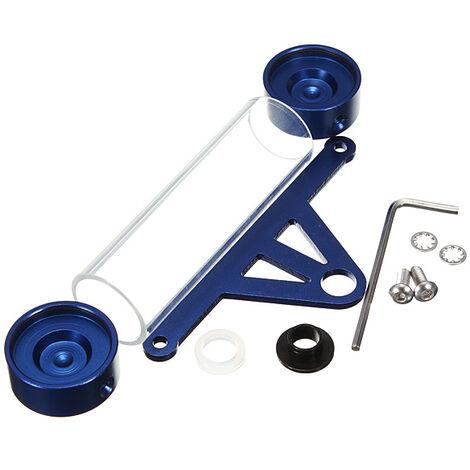 Support de tube de disque de taxe en aluminium moto Scooter moto cyclomoteur étanche 4 couleurs (bleu)