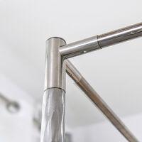 Support de moustiquaire à baldaquin à 4 poteaux d'angle 15mm 1.8*2m SwagX