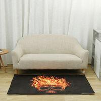 Tapis de salon squelette abstrait tapis de salle à manger 100x150cm