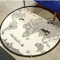 53 pouces aventure carte du monde motif bébé jeu tapis doux ramper coussin nouveau-né ramper couverture bébé chambre tapis de sol décoration bébé couverture de couchage