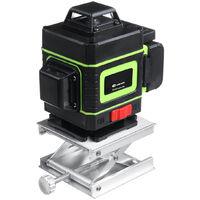 Niveau laser 25m 16 lignes à télécommande 3D à lumière verte forte