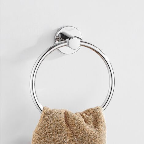 Wall-Wall Towel Ring Stainless Steel Round Towel Rack for Bathroom, Kitchen, Room (