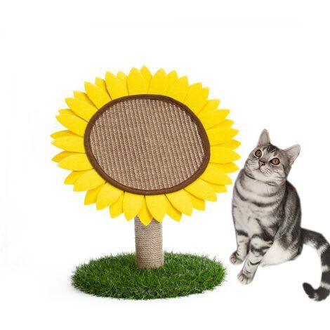 Pet Supplies Round Cat Scratch Board Sisal Sunflower Cat Scratch Cat Climbing Frame--