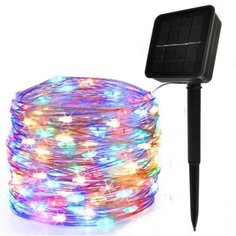 100Led Solar Copper Wire Garland Outdoor Waterproof Light Garland Garden Day Christmas Decoration Light Color