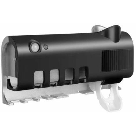 UV Toothbrush Holder Solar Energy Automatic Sterilizer Load Toothpaste Distributors Home Bathroom Accessories (Black)