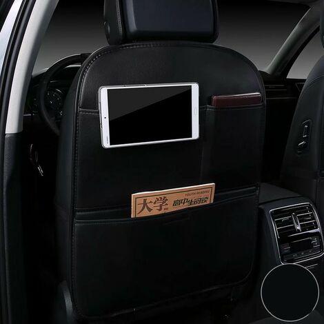 Car seat kick cushion, children's protective cushion, storage bag anti-dirty protective cushion, anti-kick rear wear cushion (black)