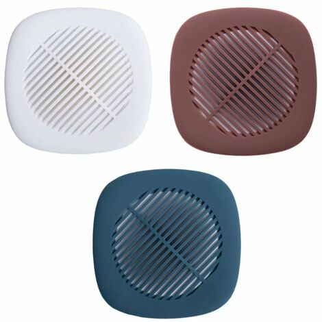 Sink Filter, Bathroom Hair Resistant Floor Drain Cover, Domestic Kitchen Sewer Filter (3 Packages, Red, White, Dark Blue)