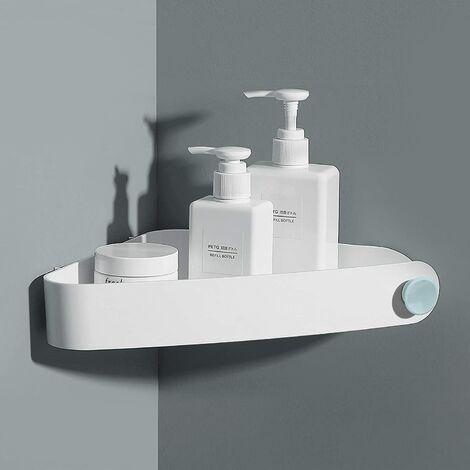 Undrilled Shower Shelf, Bathroom Storage and Organization, Shower Soap Shelf, Bathroom Shelf, Includes 2 Stickers, White
