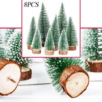 8pcs 3 Sizes Mini Artificial Christmas Tree Mini Christmas Tree Green Mini Christmas Tree Small Christmas Decoration Number 10/15/20 cm C