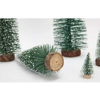 10 pieces of mini decorations for Christmas tree, with diy table decoration in cedar - 10 cm c