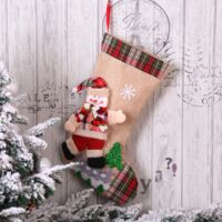 4 pieces Christmas Bottom Gift Bag Christmas Bag Christmas Decorations Christmas Decorations (Old Man + Snowman + Elan + Bear 4 Pieces (