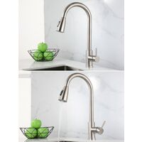 Kitchen Faucet Stainless Steel Faucet 304 Rotary Telescopic Kitchen Cabinet Wedge Watering Hot and Cold Water