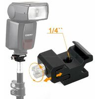 """Metal flash boot, with 1/4 """"-20 tripod screw, for camera flash base with tripod 1-"""