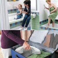 2 Pieces Shower Handle Ventouse Plastic Bath Handle Golden Bathroom Accessories
