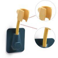 Hand shower holder Adjustable wall shower holder Shower apple holder Wall bracket Plastic adhesive ABS without blue drill media--