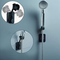 Hand Shower Hand Wall Shower Holder Adjustable Shower Pack Shower Holder Plastic Adhesive Wall Bracket ABS Without Black Drill Media--