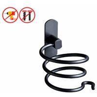 Hair Dryer Holder Bathroom Storage Holder for Hairdryer Free Perforation Wallpaper for Hair Dryer