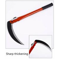 Agricultural sickle, folding lawn mower, domestic and sickle agricultural chain knife, multifunctional weeding gardening tool (a set + 2 spare blades)