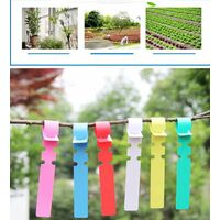 Sowing labels, gardening labels, rings set labels, flower labels (100 sheets of rings set labels: white)