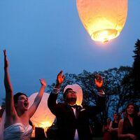 Kongming Lantern Wish Lamp Love Bishop Sky Lantern White 5pcs