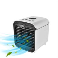 Multifunctional Domestic Air Conditioner Water Cooling Fan Humidifiers USB Office Cooler (19 * 19 * 21.3cm)