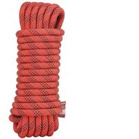 Safety rope nylon rope climbing rope outdoor climbing rope climbing rope rescue rope descent rope climbing rope 14mm red (10 meters + 2 carabiner curves