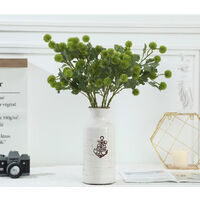 Artificial fruit small hydrangea simple pine cone ball decoration of the house artificial flowers green plants (light green * 4