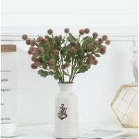 Artificial Fruit Small Hytensia Simple Pine Cone Ball Home Decoration Artificial Flowers Green Plants (Pink * 4