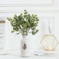 Artificial Fruit Small Hytensia Simple Pine Cone Ball Home Decoration Artificial Flowers Green Plants (White * 4