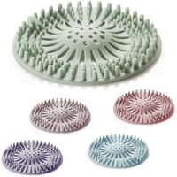5 Rooms Shower Drain Covers, Filter Catch Hair Shower Silicone Tube Drainer Catch Hair Cap With Suction COUTE for Kitchen Bathroom