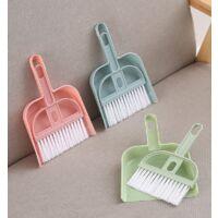 3 sets broom shovel and bucket small broom brush mini broom shovel for cleaning desktop cleansing brush office sweeping