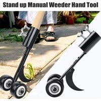 Template weeding tool with wheels, weeding tool The garden, weeding without kneeling for cleaning between slabs, blocks, patios and lawns