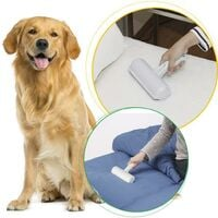 Roller; pet hair removal, brush; hair removal; reusable pets for cats and dogs, easy to clean mat, furniture, rugs, clothes, clothes and bedding, animal fur on blue sofa