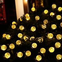 Perle rare Solar Fairy Light Outdoor with 60 LED balls 8 patterns Warm color [energy class A +++].