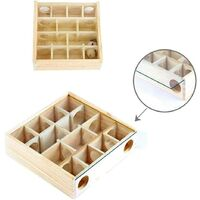 Wooden Hamster Maze Fun Hamster Tunnel Toys Small Animal Cage for Hamsters, Mice, Other Small Animals