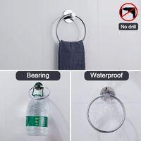 Round Stainless Steel Towel Bar Bathroom Towel Ring Hanger Ring Pbre Perforated Towel Ring Towel Holder Hanger Ring