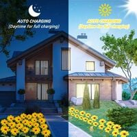 Waterproof Outdoor Solar Lamp, Sunflower Solar Lamp Outdoor Garden Decoration 10LED Artificial Flower Lamp with Adjustable Pole and Leaves, Suitable for Driveway, Yard, Lawn, Patio, Garden