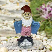 statue outdoor garden decoration large size 20cm garden gnome humor Resin gnomes Figurine Statue Jardin Gnome Sculpture Miniature Decoration