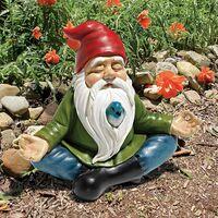 Garden Statue, Polychrome Resin Dwarf Outdoor Dwarf Zen Garden Statue Decoration