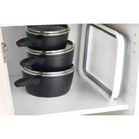 Multifunctional Square Kitchen Storage Box Ppant Basin Storage Basin Kitchen Cutlery Storage Basin Ppable Rectangular Basin Ppable Rectangular, Gray