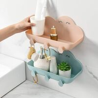 Cloud Shaped Wall Shelf for Kitchen, Bath, Bath, Soap, Towels - Color: Pink
